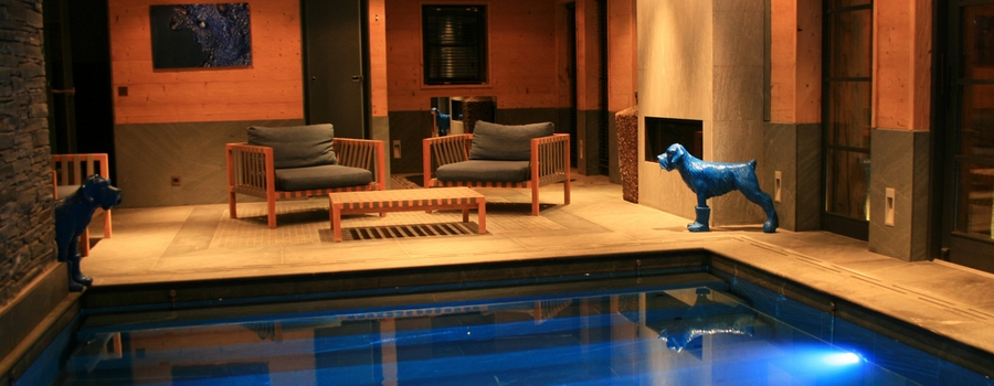 Chalet Indigo Megève Indoor Swimming Pool