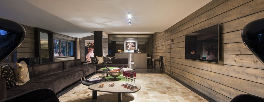 Chalet Aflabim Gstaad Cinema Room featured